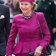 NLD/Amsterdam/20150923- Prinses Beatrix en Koningin Sonja van Noorwegen openen Munch-expo van de Noorse kunstenaar Evard Munchin in het van Gogh Museum, Koningin Sonja