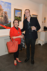 TATIANA VON SAXE and NICKY RENDALL at a private view of work by artist Philip Bouchard at 508 Gallery, 508 King's Road, London on 3rd April 2014.