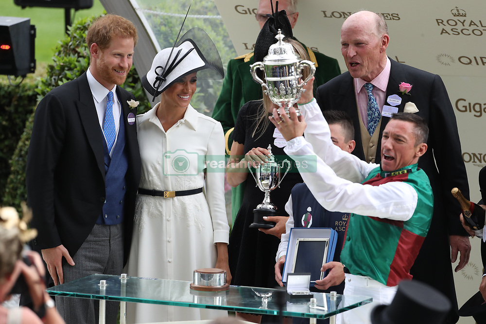 June 19, 2018 - Ascot, United Kingdom - Duke and Duchess of Sussex on the opening day of Royal Ascot, United Kingdom. (Credit Image: © Stephen Lock/i-Images via ZUMA Press)