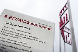 December 1, 2016 - Amsterdam, Nederland - HIV aids monument in Amsterdam, the netherlands (Credit Image: © Ton Koene/ZUMA Wire)
