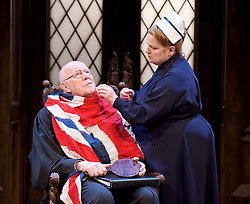 Forty Years On <br /> by Alan Bennett <br /> at Festival Theatre Chichester , Great Britain <br /> press photocall <br /> 25th April 2017 <br /> <br /> Richard Wilson as Headmaster <br /> <br /> Jenny Galloway as Matron <br /> <br /> <br /> <br /> <br /> <br /> Photograph by Elliott Franks <br /> Image licensed to Elliott Franks Photography Services