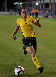 October 12, 2018 - Edinburgh, Scotland, United Kingdom - Edinburg, NC - OCTOBER 11: 2018.Chinyelu Asher of Jamaica.During CONCACAF Women's Championship Group B match between Cuba against Jamaica at H-E-BPark Stadium, Edinburg,  on October 11, 2018  (Credit Image: © Action Foto Sport/NurPhoto via ZUMA Press)