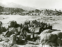 1936 Filming Three On the Trail at Paramount Studios