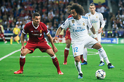 Dejan Lovren of Liverpool vs Marcelo of Real Madrid during the UEFA Champions League final football match between Liverpool and Real Madrid at the Olympic Stadium in Kiev, Ukraine on May 26, 2018.Photo by Sandi Fiser / Sportida