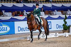 MERVELDT Anna (IRL), Esporim<br /> München - Munich Indoors 2019<br /> Preis der Liselott und Klaus Rheinberger Stiftung<br /> Grand Prix de Dressage (CDI4*) <br /> Wertungsprüfung MEGGLE Champion of Honour,<br /> Qualifikation für Grand Prix Special<br /> 22. November 2019<br /> © www.sportfotos-lafrentz.de/Stefan Lafrentz