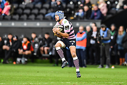 Cardiff Blues' Matthew Morgan claims the kick<br /> <br /> Photographer Craig Thomas/Replay Images<br /> <br /> Guinness PRO14 Round 13 - Ospreys v Cardiff Blues - Saturday 6th January 2018 - Liberty Stadium - Swansea<br /> <br /> World Copyright © Replay Images . All rights reserved. info@replayimages.co.uk - http://replayimages.co.uk