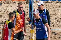 Stefan Bormans, Yorick de Groot win 2-0 of Robert Meeuwsen, Alexander Brouwer. The Final Day of the DELA NK Beach volleyball for men and women will be played in The Hague Beach Stadium on the beach of Scheveningen on 23 July 2020 in Zaandam.