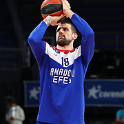 Anadolu Efes's and Olympiacos Piraeus's during their Turkish Airlines Euroleague Basketball 2020-2021 Regular Season Round 25 match Anadolu Efes between Olympiacos Piraeus at the Sinan Erdem Dome on February 18, 2021 in Istanbul, Turkey. Photo by Aykut AKICI/TURKPIX