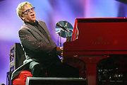 Elton John performing at the iHeartRadio Music Festival at the MGM Grand Arena on Friday, September 20, 2013.