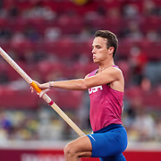 TOKYO, JAPAN August 3:    KC Lightfoot of the United States in action during the Pole Vault Final for Men at the Olympic Stadium during the Tokyo 2020 Summer Olympic Games on August 3rd, 2021 in Tokyo, Japan. (Photo by Tim Clayton/Corbis via Getty Images)