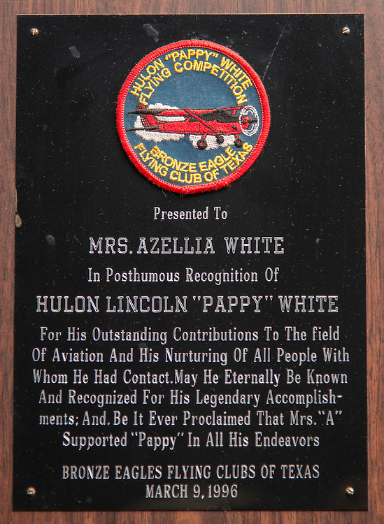 Award given to pioneering pilot Azellia White,103, at her home in Sunnyside, February 24, 2017.