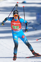 Chevalier-Bouchet Anais of France competes during the IBU World Championships Biathlon 4x6km Relay Women competition on February 20, 2021 in Pokljuka, Slovenia. Photo by Vid Ponikvar / Sportida