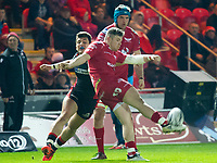Rugby Union - 2016 / 2017 Guinness Pro12 - Scarlets vs. Edinburgh<br /> <br /> Rhys Patchell of Llanelli Scarlets  kicks to clear, at Parc y Scarlets, Llanelli.<br /> <br /> COLORSPORT/WINSTON BYNORTH