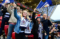 Bristol Rugby fans cheer  - Mandatory by-line: Dougie Allward/JMP - 13/04/2018 - RUGBY - Ashton Gate Stadium - Bristol, England - Bristol Rugby v Doncaster Knights - Greene King IPA Championship