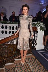 Rosanna Falconer at reception to celebrate the launch of the Claridge's Christmas Tree 2017 at Claridge's Hotel, Brook Street, London England. 28 November 2017.