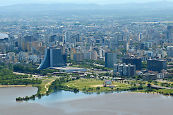 Vista aérea do Centro Administrativo da cidade de Porto Alegre. FOTO: Jefferson Bernardes/Preview.com