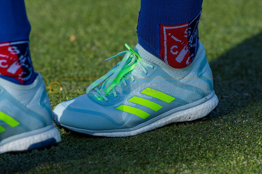 BILTHOVEN -  Hoofdklasse competitiewedstrijd dames, SCHC v hdm, seizoen 2020-2021.<br /> Foto: Schoen Adidas