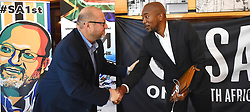 South Africa -Cape Town - 01 October 2020- Mmusi Maimane joins business mogul and former ANC National Security Advisor Neil de Beer,as he announces his resignation from the ANC after more than 30 years of membership to form the Independent Movement.Picture:Phando Jikelo/African News Agency(ANA)