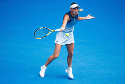 January 19, 2019 - Melbourne, VIC, U.S. - MELBOURNE, VIC - JANUARY 18: CAROLINE WOZNIACKI (DEN) during day five match of the 2019 Australian Open on January 18, 2019 at Melbourne Park Tennis Centre Melbourne, Australia (Photo by Chaz Niell/Icon Sportswire) (Credit Image: © Chaz Niell/Icon SMI via ZUMA Press)