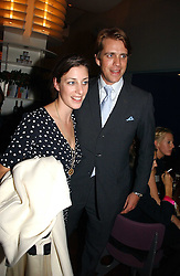 BEN ELLIOT and his sister ALICE IRWIN nephew and niece of hrh the Duchess of Cornwall at a party to celebrate the publication of 'The year of Eating Dangerously' by Tom Parker Bowles held at Kensington Place, 201 Kensington Church Street, London on 12th october 2006.<br /><br />NON EXCLUSIVE - WORLD RIGHTS