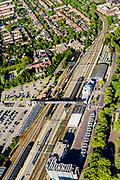Nederland, Noord-Holland, Hoorn, 13-06-2017; NS Station en omgeving.<br /> Railway station Hoorn.<br /> luchtfoto (toeslag op standard tarieven);<br /> aerial photo (additional fee required);<br /> copyright foto/photo Siebe Swart