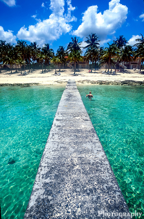 Tropical beach and turquoise waters Cuban beach