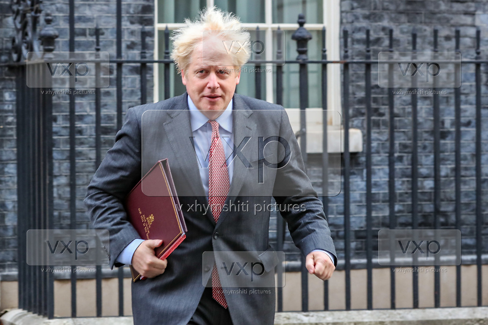 Prime Minister Boris Johnson leave 10 Downing Street, London, ahead of a Cabinet meeting at the Foreign and Commonwealth Office on Wednesday, Sept 30, 2020. (VXP Photo/ Vudi Xhymshiti)