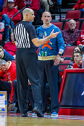 NORMAL, IL - December 07: Jeff Malham and Dan Muller talk about a dead backboard clock situation during a college basketball game between the ISU Redbirds and the Morehead State Eagles on December 07 2019 at Redbird Arena in Normal, IL. (Photo by Alan Look)