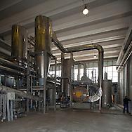 San Rocco, Milano sud : Impianto di depurazione delle acque reflue. Zona di essiccamento del fango.San Rocco Waste Water Treatment plant