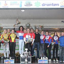 30-09-2017: Wielrennen: Nederlands kampioenschap clubteams: Dronten<br />Podium C-Categorie  kampioen WV Noord Holland, zilver WV Jan van Arkel, brons WV De Noordwesthoek