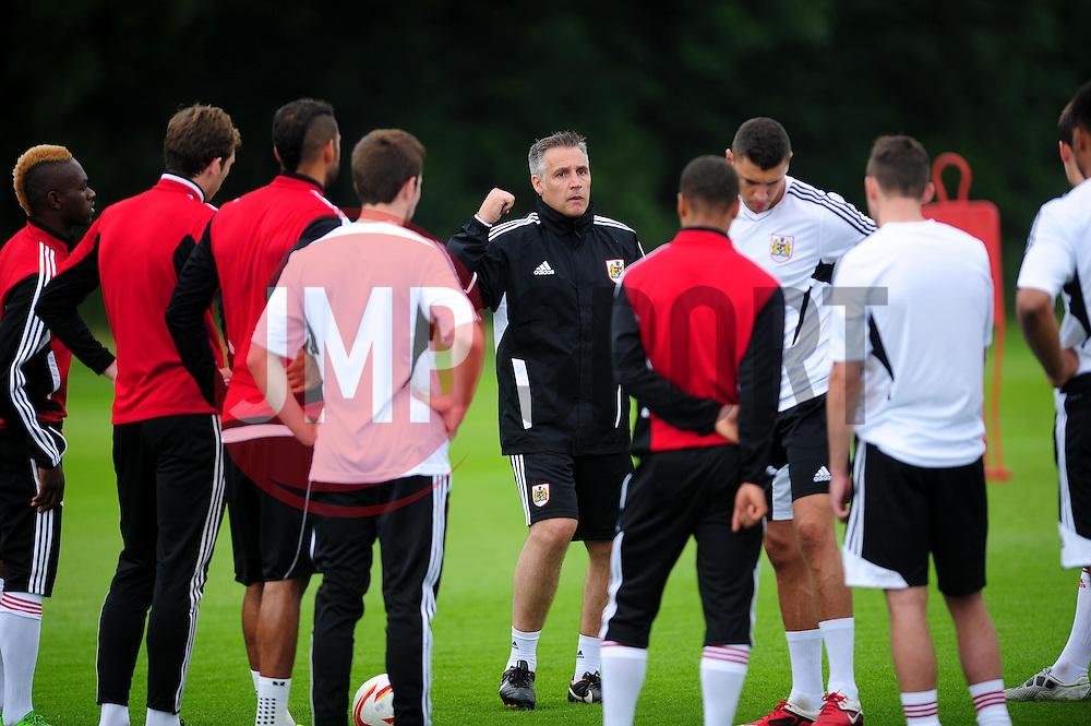 Bristol City's first team coach, John Pemberton talks to the squad - Photo mandatory by-line: Dougie Allward/JMP - Tel: Mobile: 07966 386802 28/06/2013 - SPORT - FOOTBALL - Bristol -  Bristol City - Pre Season Training - Npower League One