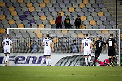 Goal for Rennes during football match between NS Mura and Rennes (FRA) in group stage of UEFA Europa Conference League 2021/22, on 20 of October, 2021 in Ljudski Vrt, Maribor, Slovenia. Photo by Blaž Weindorfer / Sportida