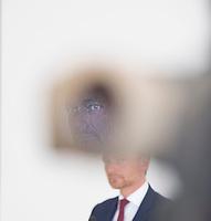 DEU, Deutschland, Germany, Berlin, 23.04.2018: FDP-Partei- und Fraktionschef Christian Lindner bei einem Pressestatement zur FDP-Fraktionsklausur im Deutschen Bundestag.