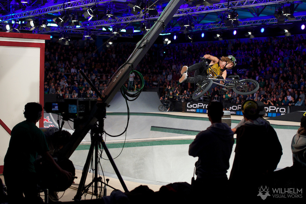 Pat Casey during BMX Park Finals at the 2013 X Games Munich in Munich, Germany. ©Brett Wilhelm/ESPN