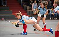 HAMBURG  (Ger) - Rotweiss Wettingen (Sui)  v  MHC Laren (Ned).  foto: Lieke van Wijk (Laren)     , Eurohockey Indoor  Club Cup 2019 Women . WORLDSPORTPICS COPYRIGHT  KOEN SUYK