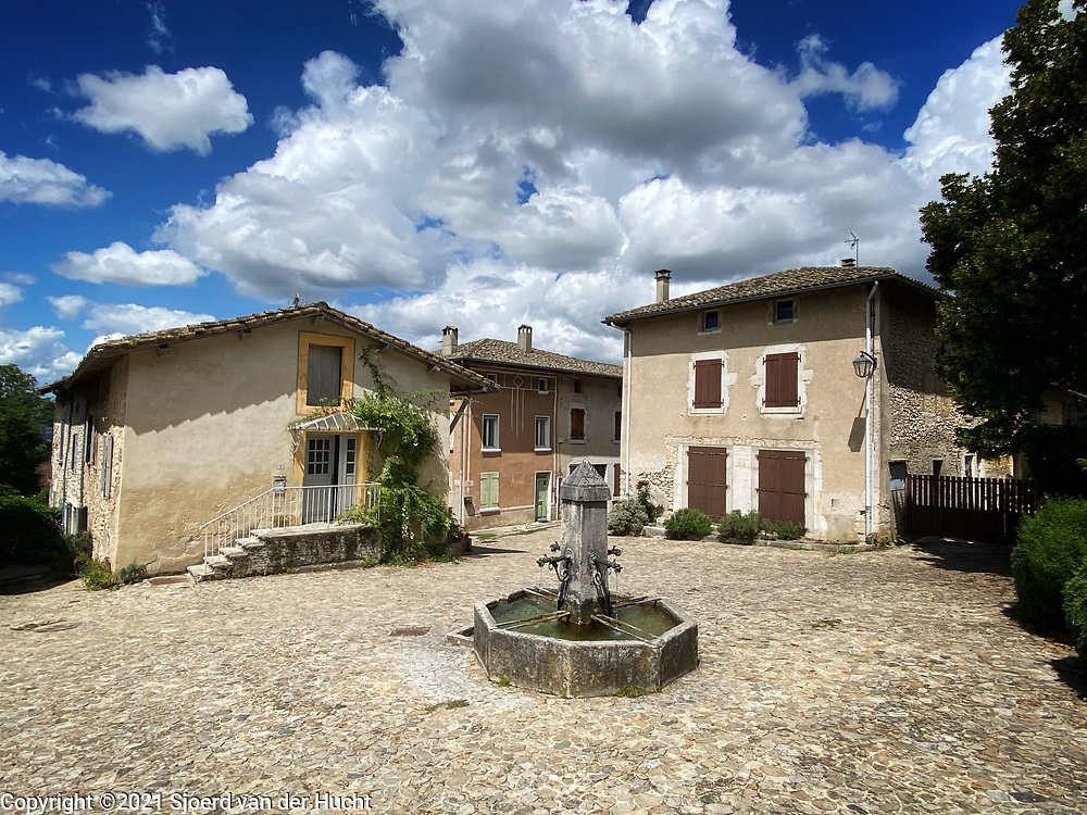 A square at Hostun, a small village in France.