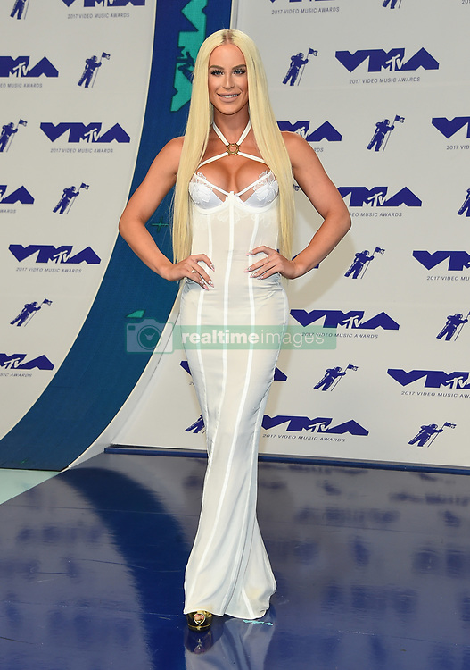 August 27, 2017 - Inglewood, California, U.S. - Gigi Gorgeous arrives for the 2017 MTV Video Music Awards at The Forum. (Credit Image: © Lisa O'Connor via ZUMA Wire)