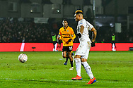Britt Assombalonga (9) of Middlesbrough during the The FA Cup match between Newport County and Middlesbrough at Rodney Parade, Newport, Wales on 5 February 2019.