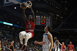 January 27, 2017 - Madrid, Madrid, Spain - Rakim Sanders, #21 of EA7 Emporio Armani Milano in action during the Euroleague basketball match between Real Madrid and EA7 Emporio Armani Milano. (Credit Image: © Jorge Sanz GarcíA/Pacific Press via ZUMA Wire)