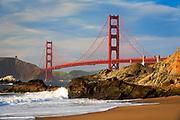 San Francisco's Golden Gate Bridge from Baker Beach