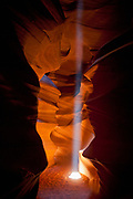 Shaft of light in Antelope Canyon, part of the Navajo Nation, Page, Arizona