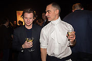 Christopher Kane; Massimilano Battista , The George Michael Collection drinks.  Christie's, King St. London, 12 March 2019