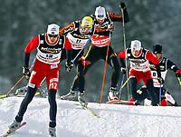 Kombinert, 18. februar 2005, VM Oberstdorf, Tyskland, <br /> Magnus Moan (NOR), Bjoern Kircheisen, Ronny Ackermann (GER), Kristian Hammer (NOR), Todd Lodwick (USA)