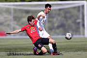 Seth Clark of Canterbury United.<br /> ISPS Handa Men's Premiership football match between Canterbury United and Auckland City at English Park in Christchurch on Sunday 13 December 2020. © Copyright image by Martin Hunter / www.photosport.nz