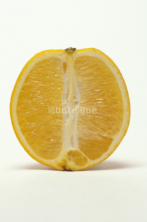Orange sliced down the middle