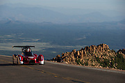June 26-30 - Pikes Peak Colorado.  Hiroshi Masuoka works through sector 2 on the mountain during practice for the 91st running of the Pikes Peak Hill Climb.