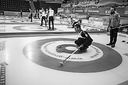 """Glasgow. SCOTLAND.  """"Round Robin"""" Game. Italy vs Switzerland at the Le Gruyère European Curling Championships. 2016 Venue, Braehead  Scotland<br /> Tuesday  22/11/2016<br /> <br /> [Mandatory Credit; Peter Spurrier/Intersport-images]"""