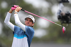 April 8, 2018 - Augusta, GA, USA - Bubba Watson tees off on one during the final round of the Masters at Augusta National Golf Club on Sunday, April 8, 2018, in Augusta, Ga. (Credit Image: © Curtis Compton/TNS via ZUMA Wire)