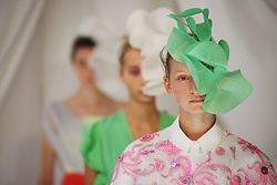 Models on the catwalk during the Delpozo London Fashion Week SS19 show held at RIBA, London.