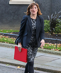 © Licensed to London News Pictures. 22/10/2019. London, UK. Nicky Morgan Secretary of State for Digital, Culture, Media and Sport leaves 10 Downing Street after a Cabinet meeting this morning… As Boris Johnson tries to get his Brexit Bill through Parliament this week. Photo credit: Alex Lentati/LNP